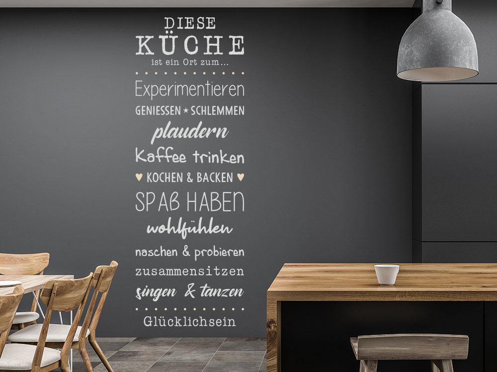 Diese Küche ist ein Ort Wandtattoo Spruch