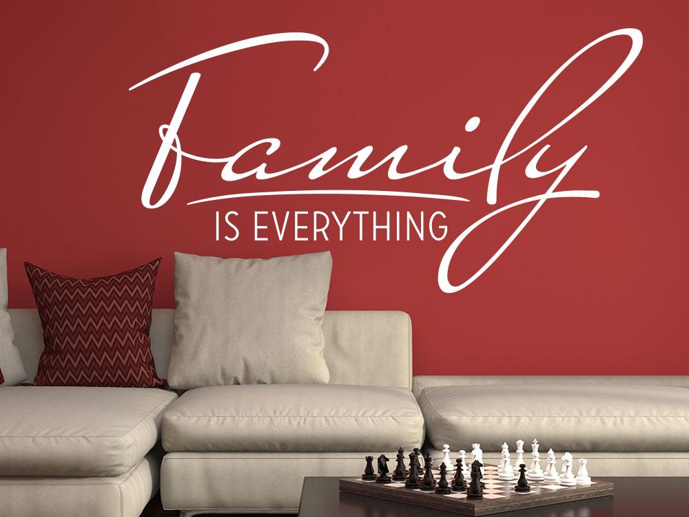 wandtattoo family is everything von klebeheld de. Black Bedroom Furniture Sets. Home Design Ideas