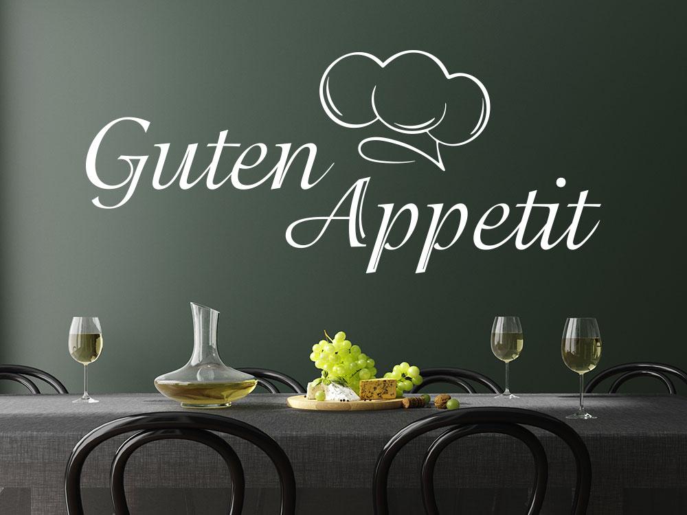 Wandtattoo Kochmütze Guten Appetit in der Küche