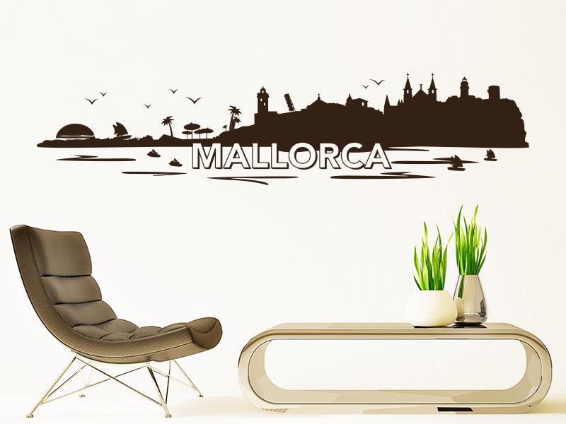 Wandtattoo Mallorca Skyline