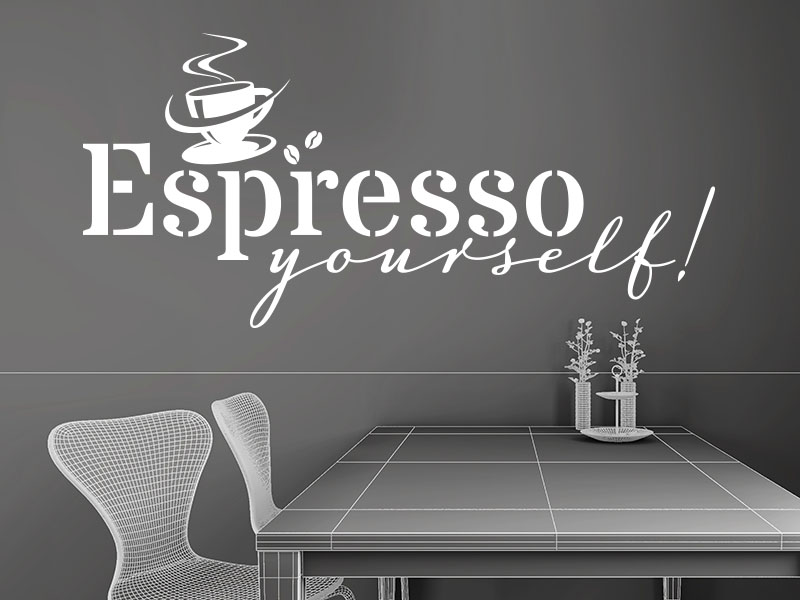 Wandtattoo Espresso Yourself