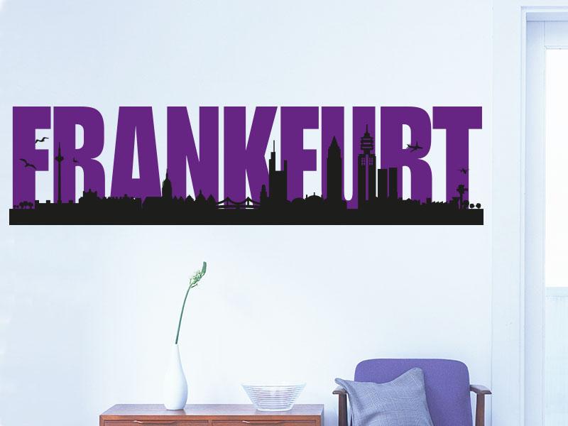 Wandtattoo Skyline Frankfurt Zweifarbig Klebeheld