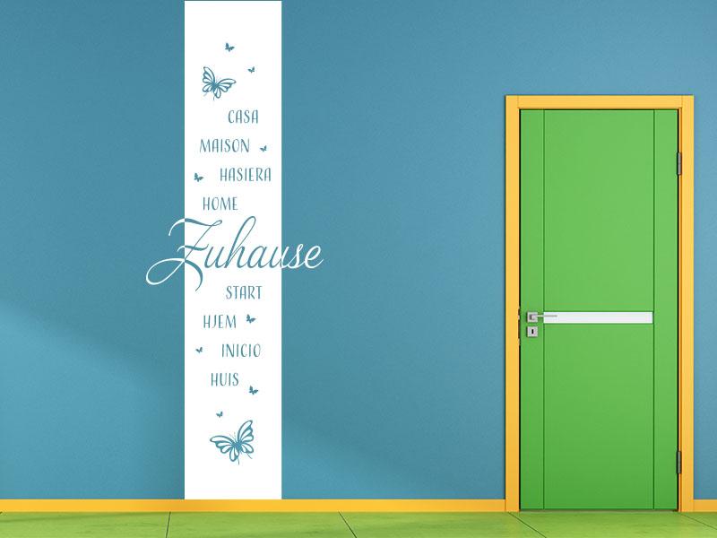 Wandtattoo Wandbanner Zuhause mehrsprachig