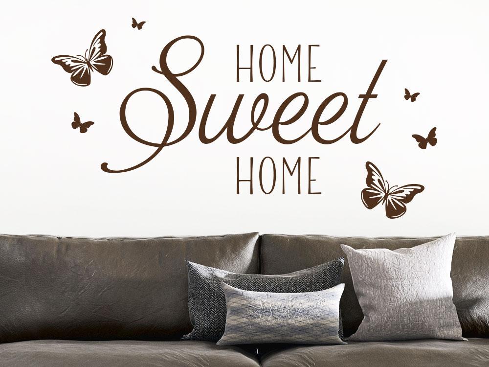 Wandtattoo HOME Sweet HOME verspielt