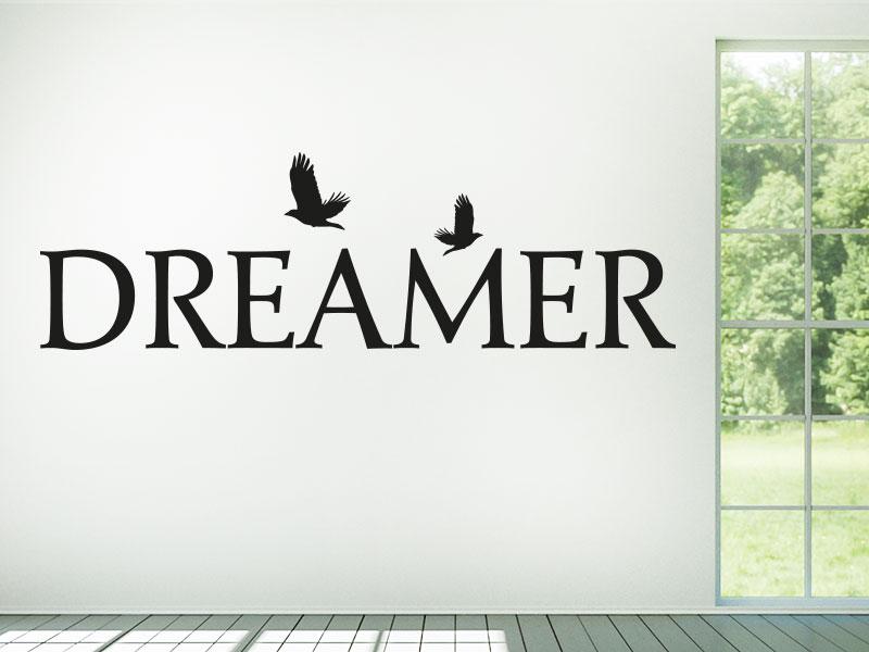 Wandtattoo DREAMER mit Vögel