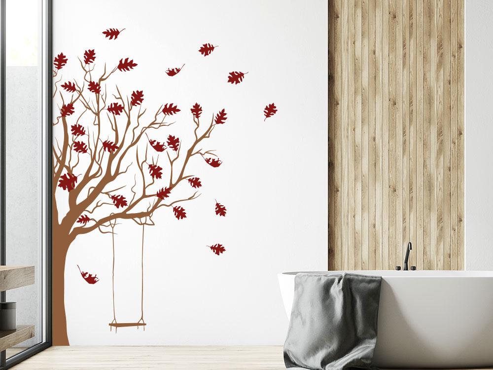 Wandtattoo Baum mit Schaukel