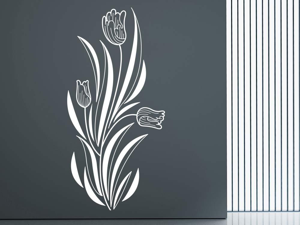 Wandtattoo Tulpenornament als Ranke