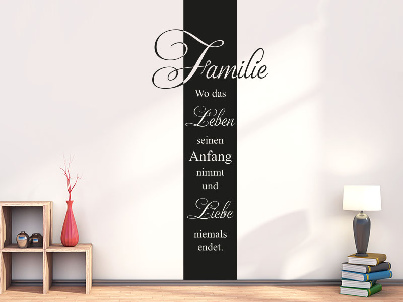 Wandtattoo Banner Familienleben