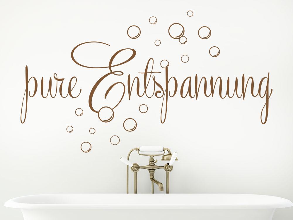 Wandtattoo Pure Entspannung im Badezimmer