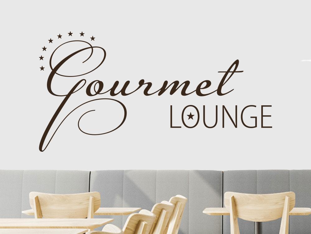 Gourmet Lounge Wandtattoo im Restaurant mit Sterne
