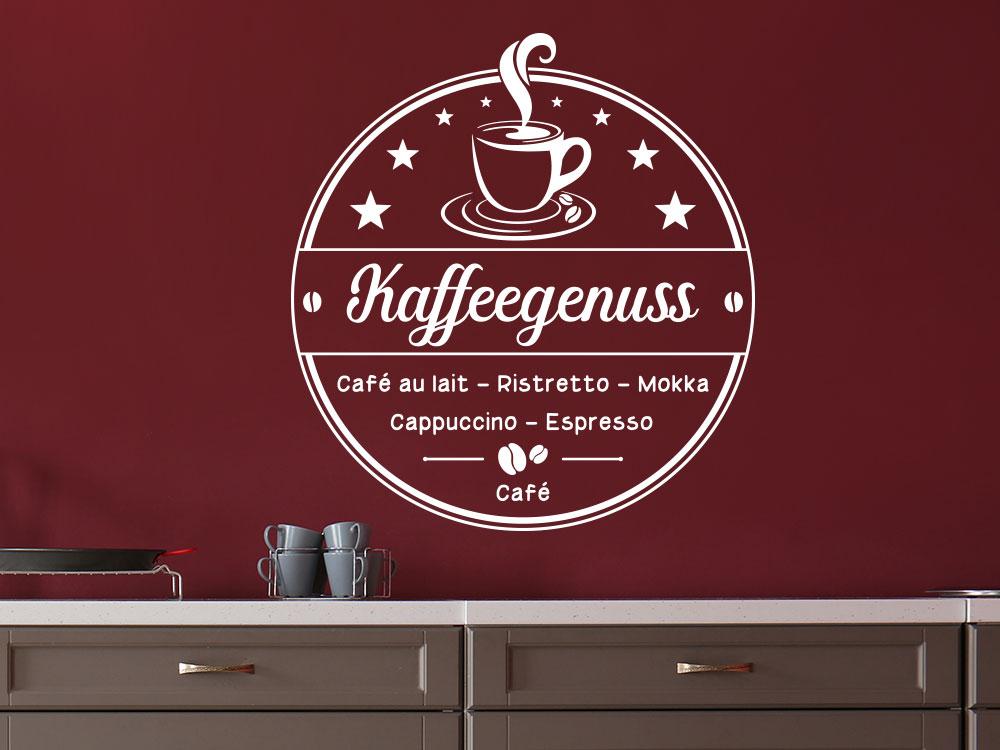 Wandtattoo Zeit für Kaffee in Küche
