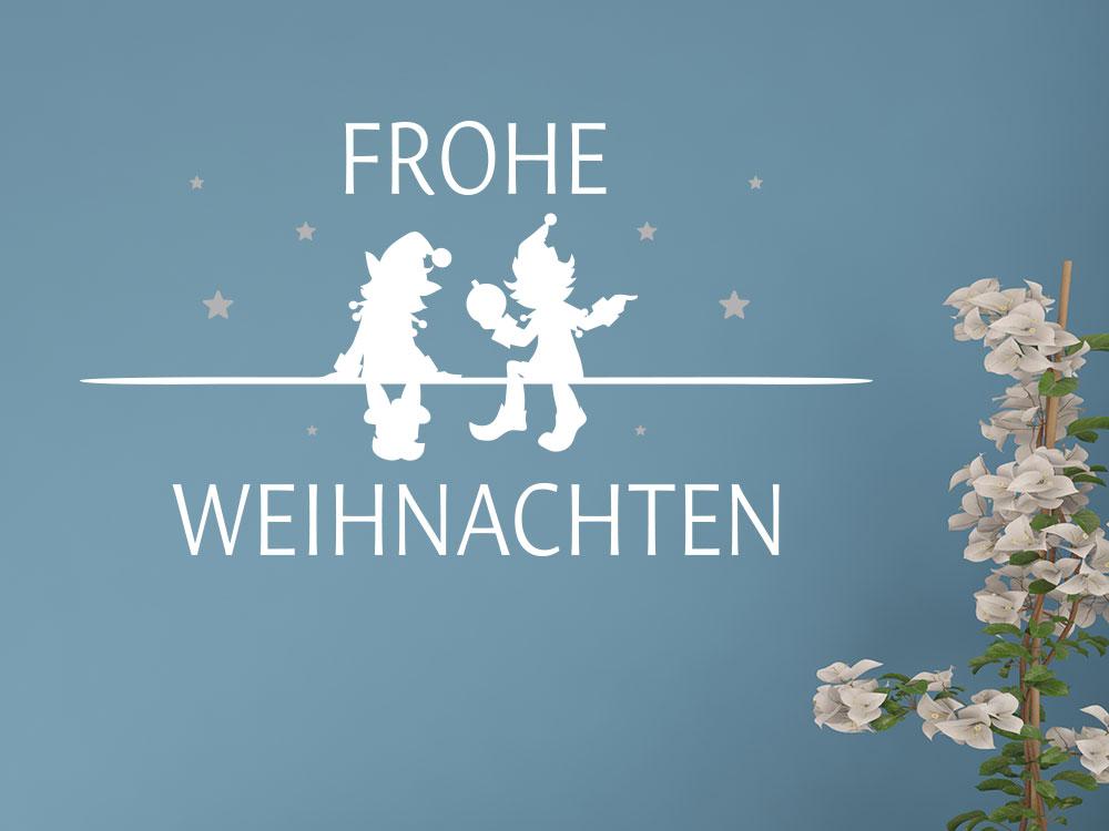 zweifarbiges Wandtattoo Frohe Weihnachten