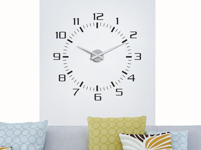 Wandtattoo Uhr modernes Ziffernblatt