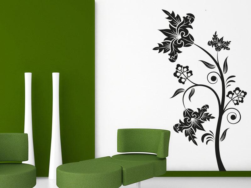 Wandtattoo Kreative Blumen-Ranke