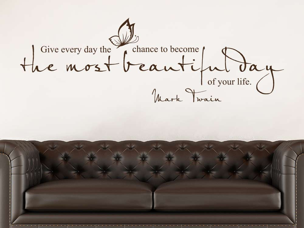 Wandtattoo Zitat The most beautiful day in der Farbe braun