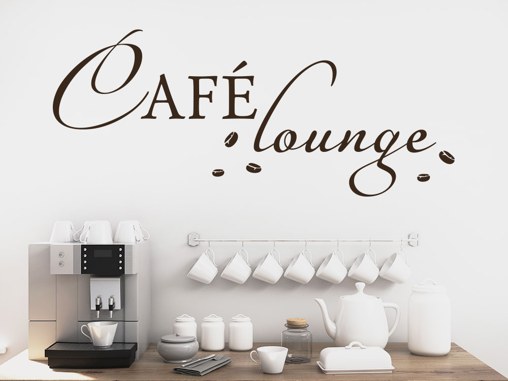 Wandtattoo Café Lounge