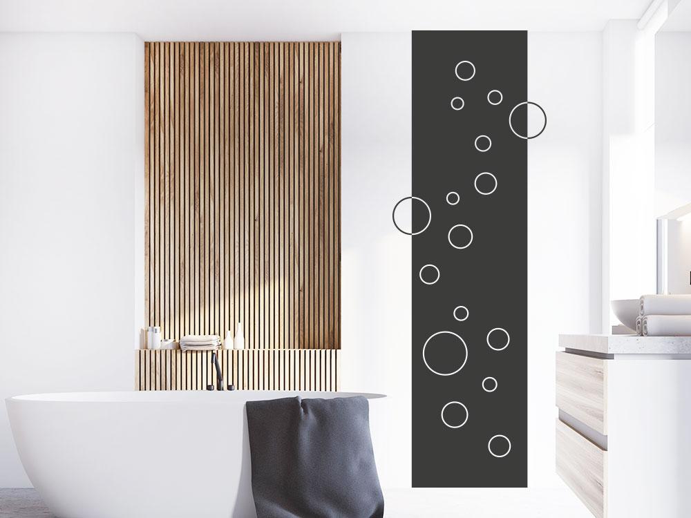 Wandtattoo Wandbanner minimalistische Kreise