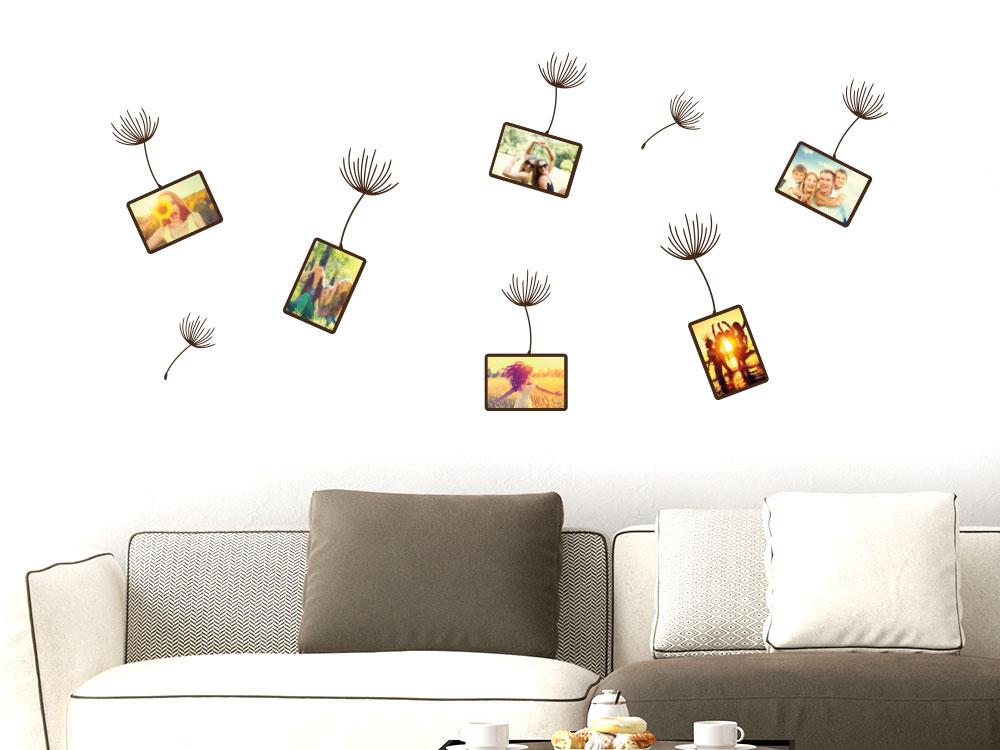 Zusatzrahmen Set für Wandtattoo Fotorahmen Pusteblume