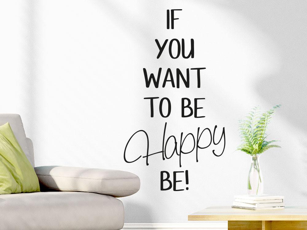 Wandtattoo To be happy wanndspruch
