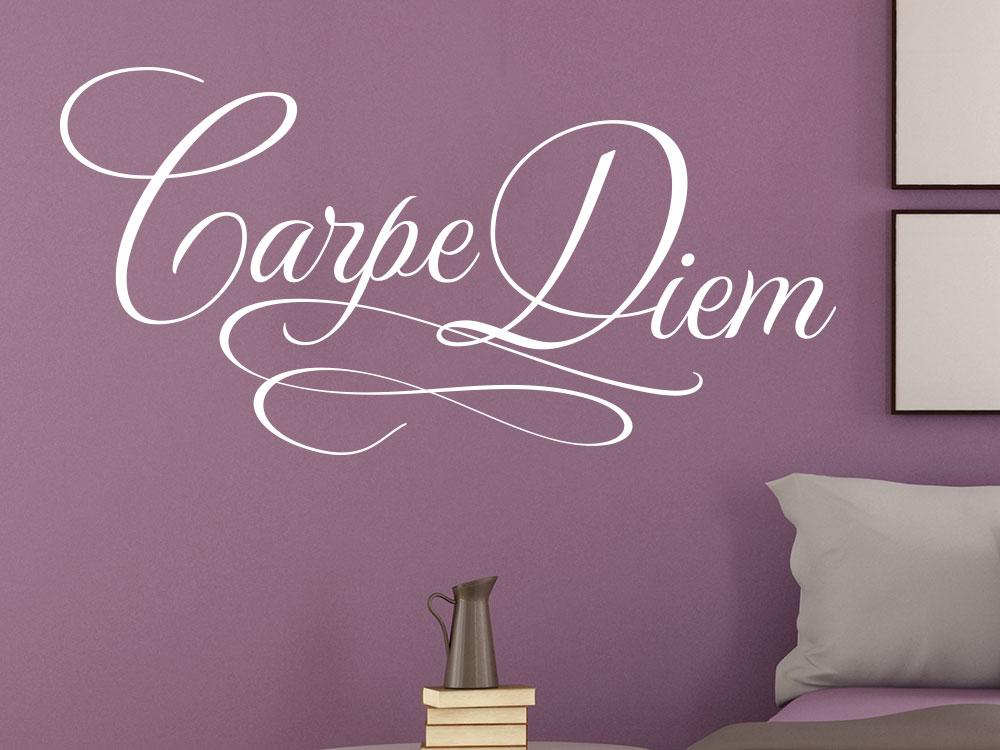 Wandtattoo Carpe Diem No.5 im Schlafzimmer