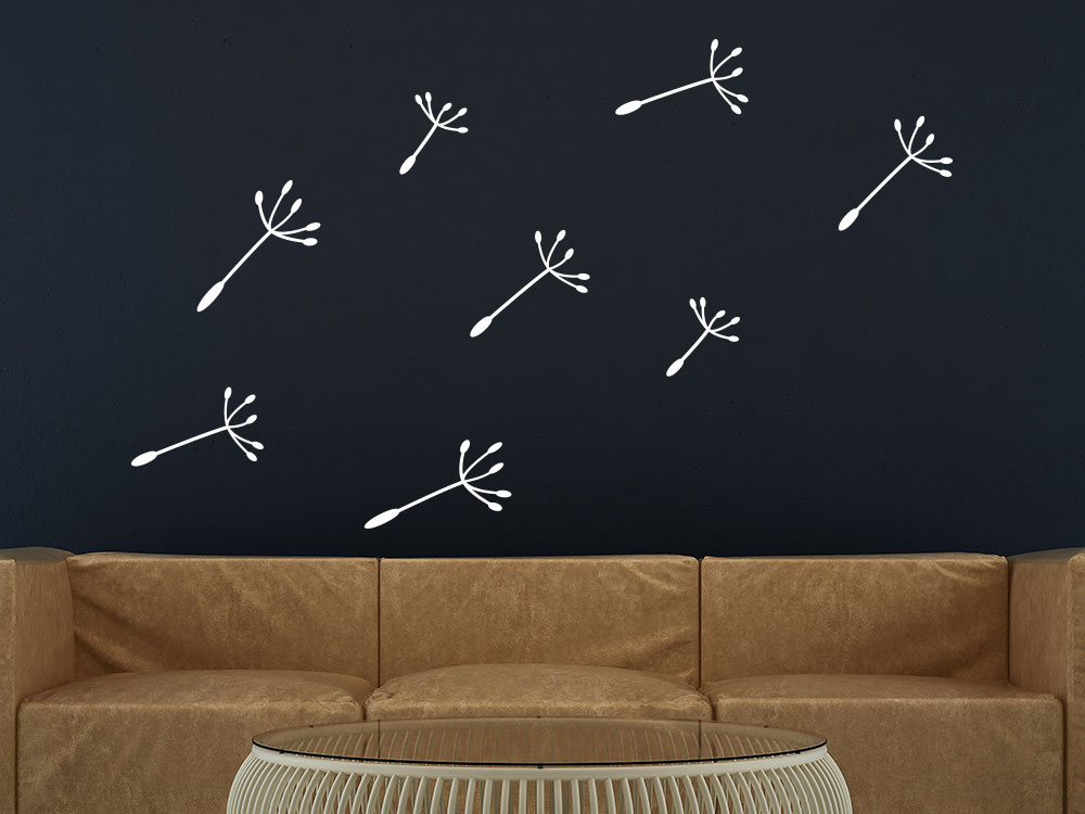 Wandtattoo Zusatzsamen Pusteblumen Banner Wohnzimmer