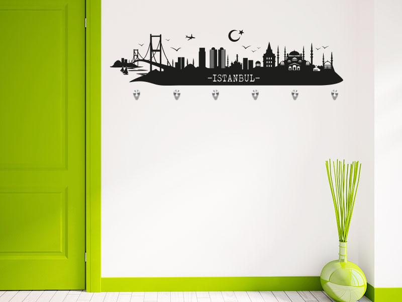 Wandtattoo Garderobe Skyline Istanbul