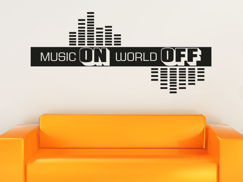 Wandtattoo Music on World off