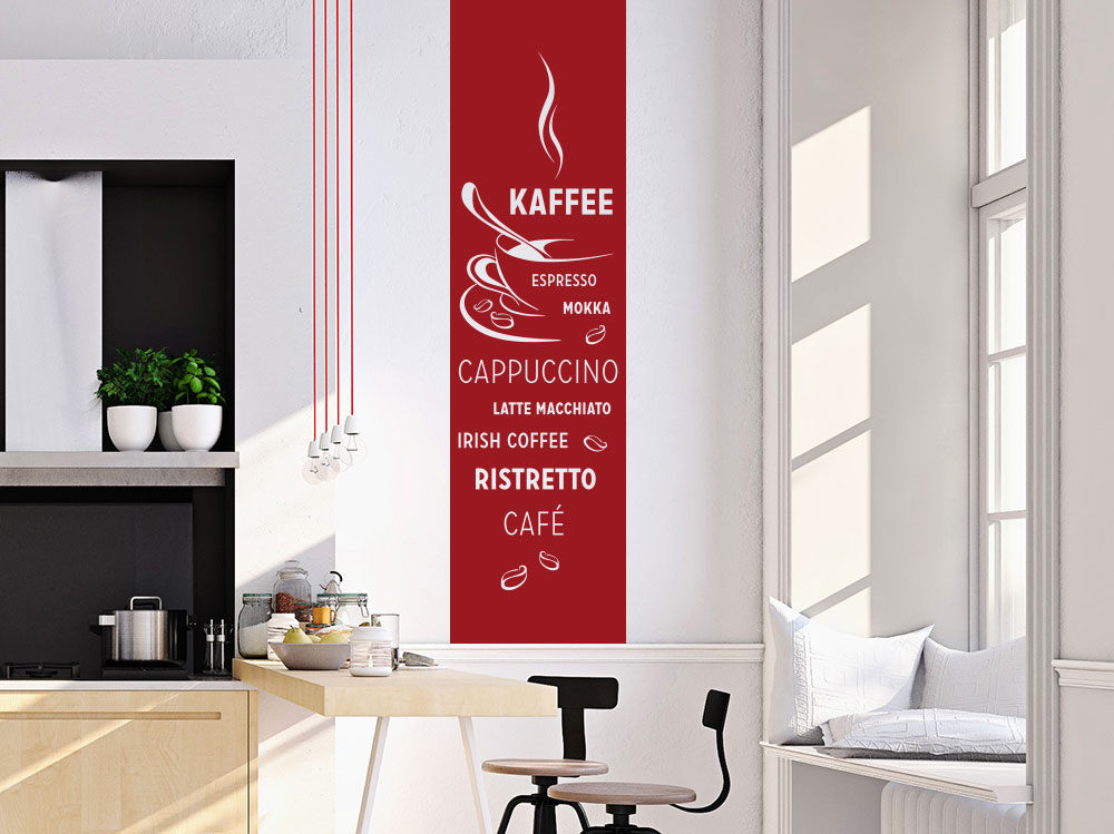 Wandtattoo Banner Kaffee