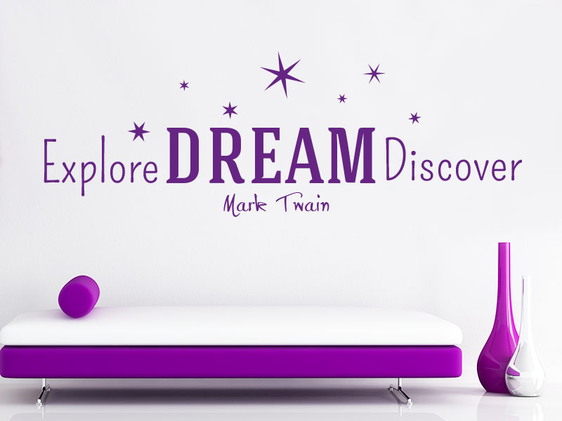 Explore Dream Discover Wandtattoo