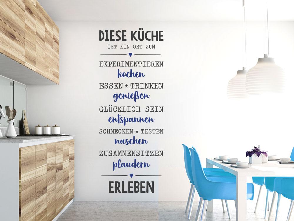 Wandtattoo Spruch Diese Küche ist ein Ort zum