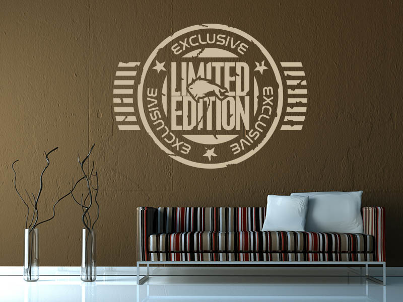 Wandtattoo Retro Button Exclusive Limted Edition
