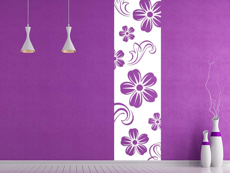 Wandtattoo Banner Blumen Symphonie