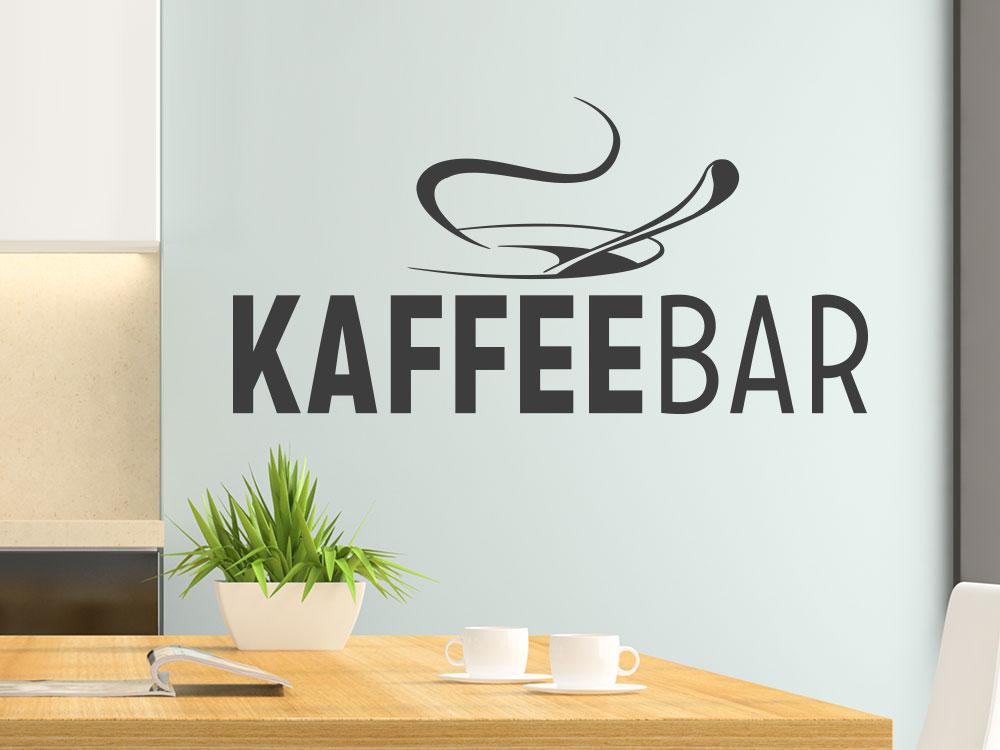 Wandtattoo Café Bar mit Kaffeetasse