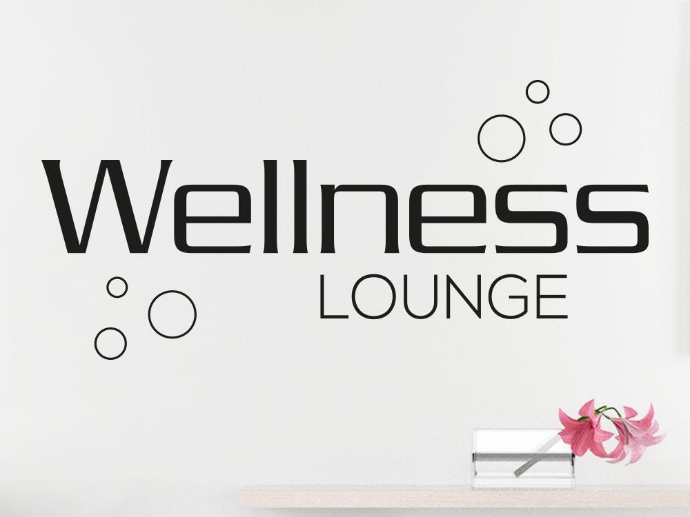 Wandtattoo Wellness Lounge mit Seifenblasen im Wellnessbereich