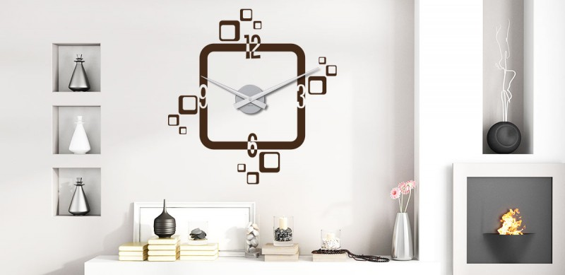 Wandtattoo Uhren Die Kreative Design Wanduhr Klebeheld