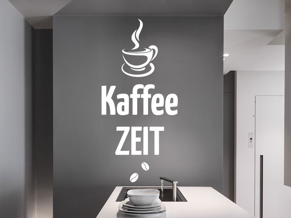 Wandtattoo Kaffeezeit Küche