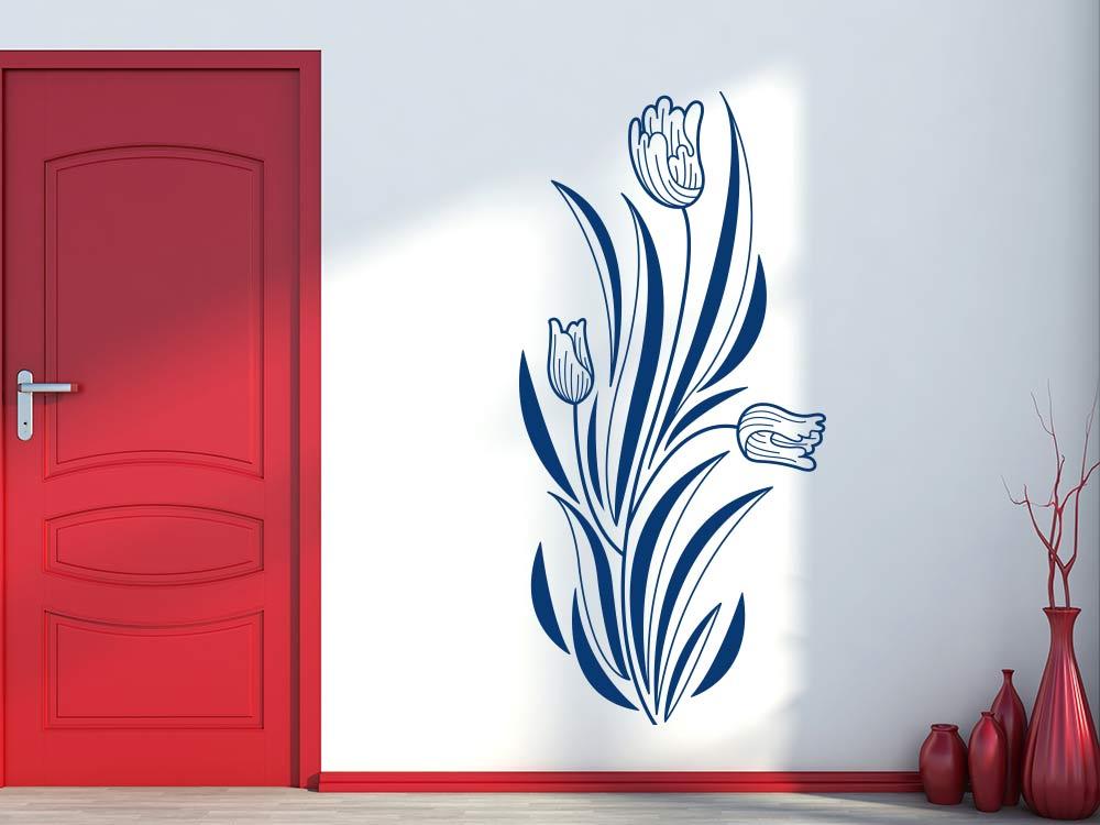 Wandtattoo Tulpen Ornament im Flur