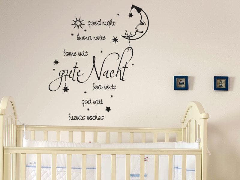 Wandtattoos Kinderzimmer - Wandtattoo Gute Nacht