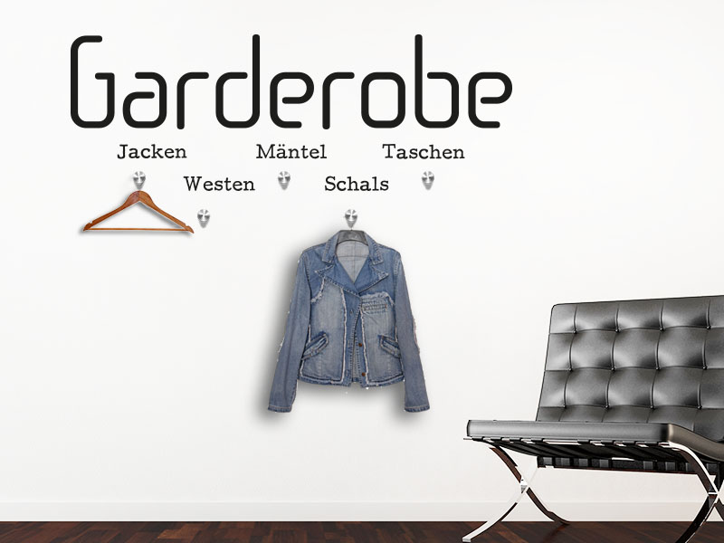 Wandtattoo Garderobe modern