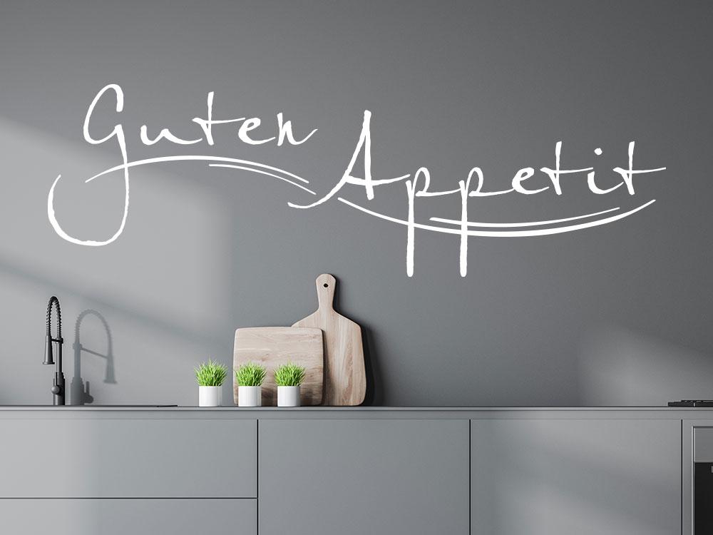 Wandtattoo Schriftzug Guten Appetit Küche