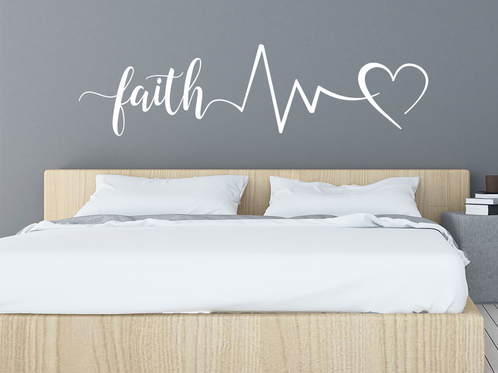 Faith Hope Love Wandtattoo mit Symbolen