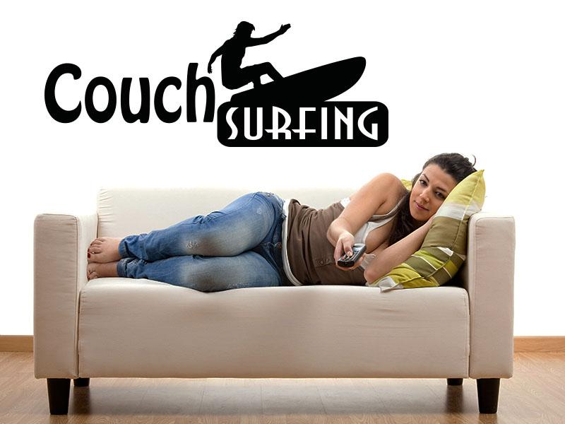 Wandtattoo Couch Surfing