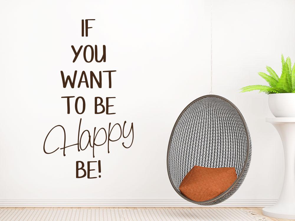 Wandtattoo To be happy wohnzimmer