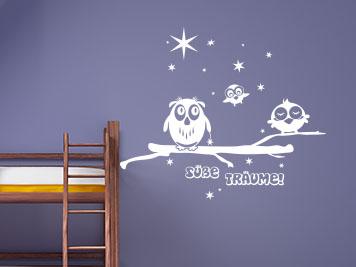 Babyzimmer gestalten wandgestaltung eule  Kinderzimmergestaltung - Enrichtungstipps mit Wandtattoos