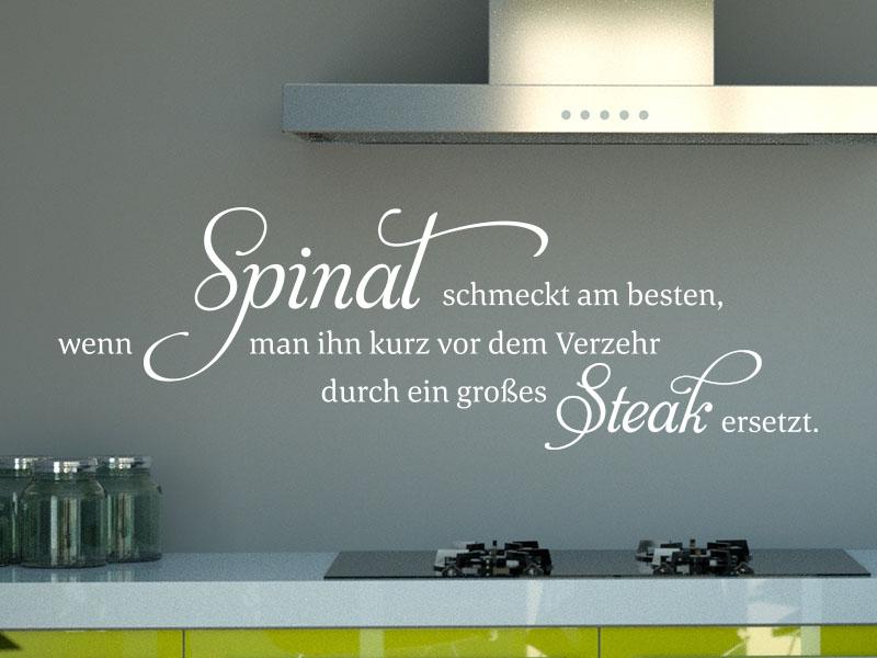 Wandtattoo Spinat schmeckt am besten…