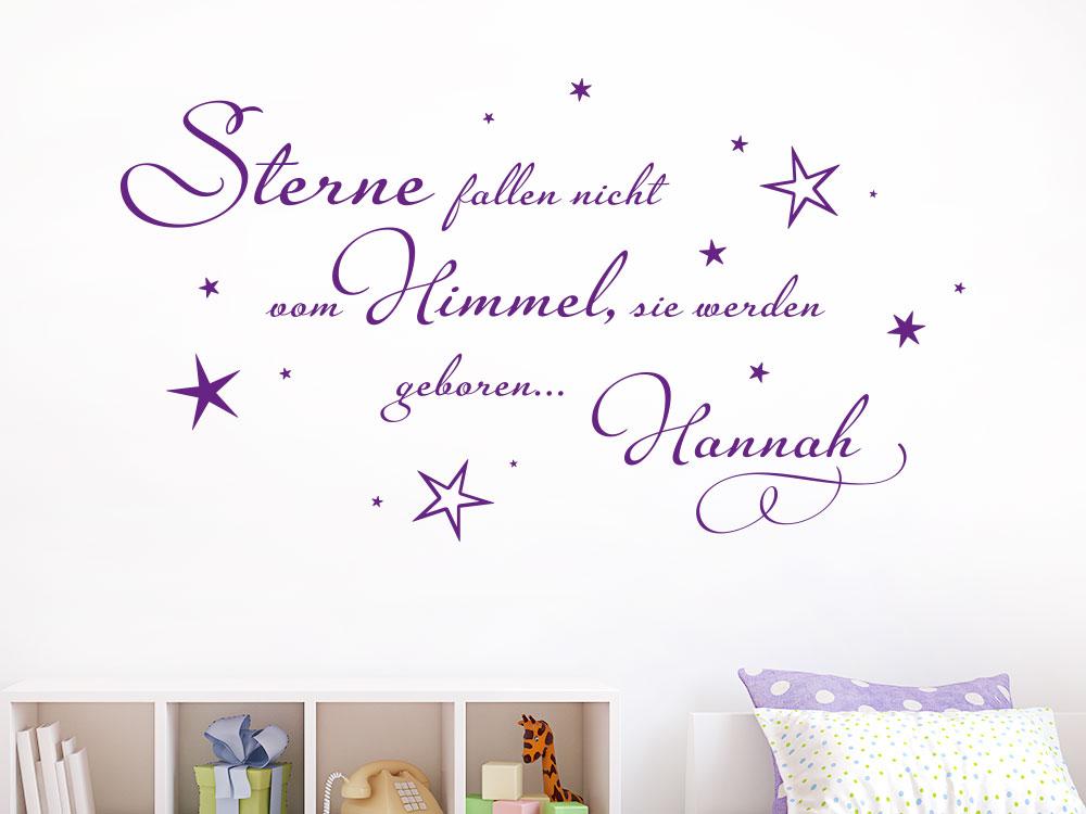 Wandtattoo Sterne fallen nicht vom Himmel, sie werden geboren