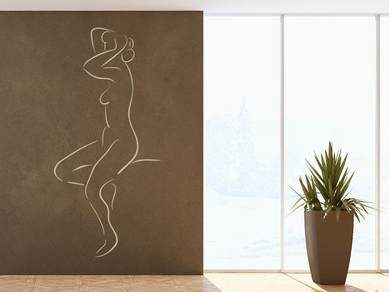 Wandtattoo Körperportrait einer Frau