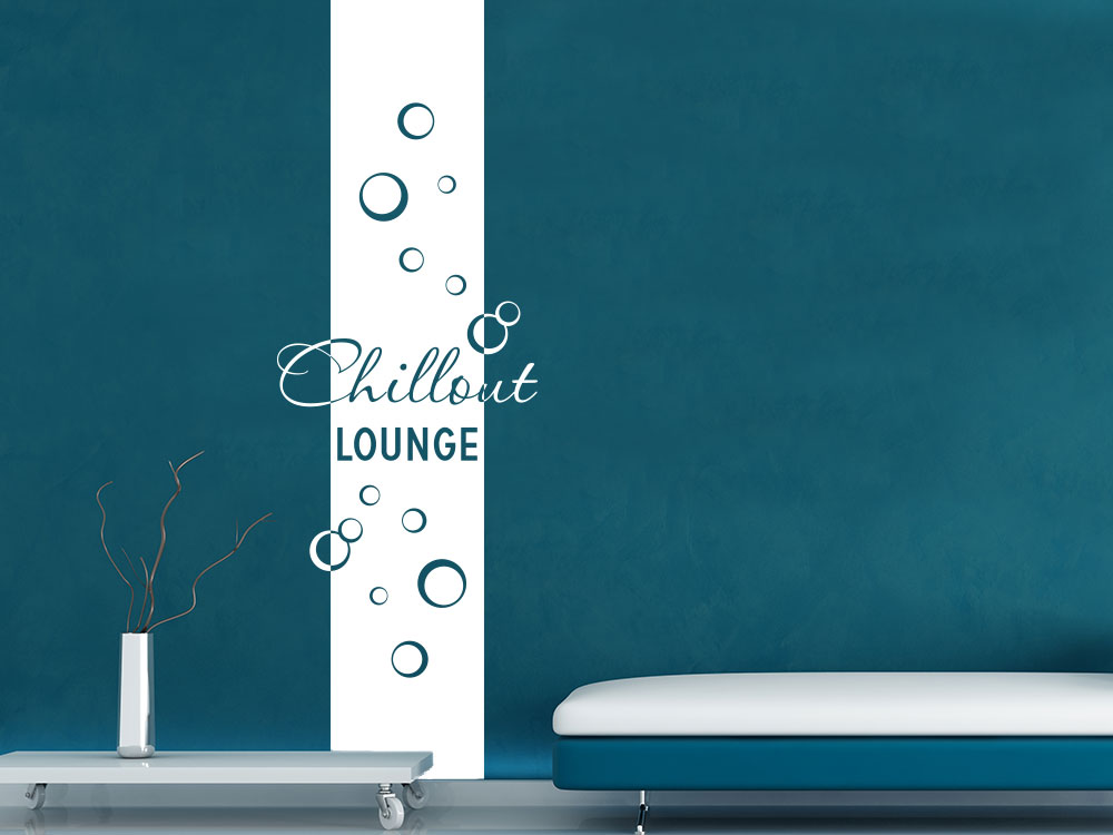 Wandtattoo Banner Chillout Lounge Bubbles