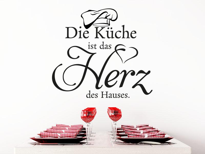 Wandtattoo Die Küche ist das Herz des Hauses über Esstisch
