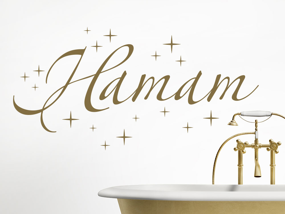 Wandtattoo Hamam in gold